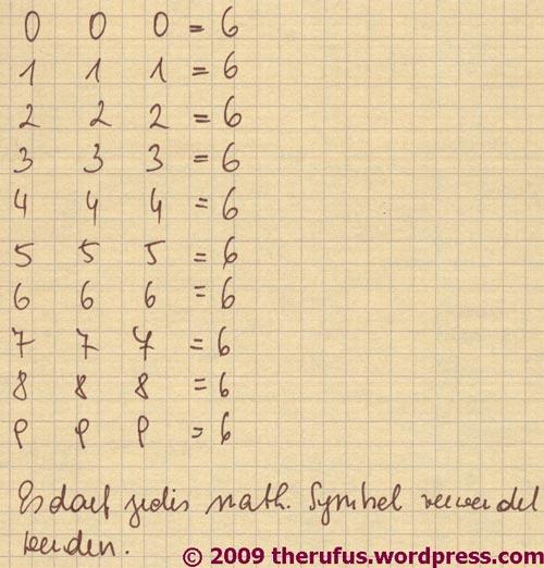 mathematisches Rätsel