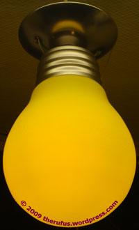 Gelbe Leuchte