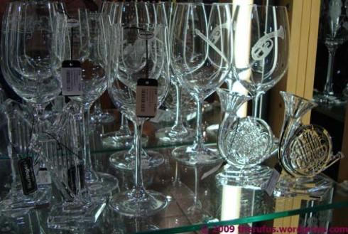 Musikkollektion aus Glas